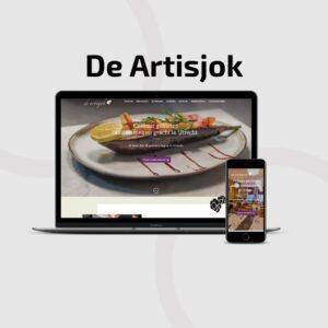 Restaurant De Artisjok gemaakt door Hageman Webdesign.