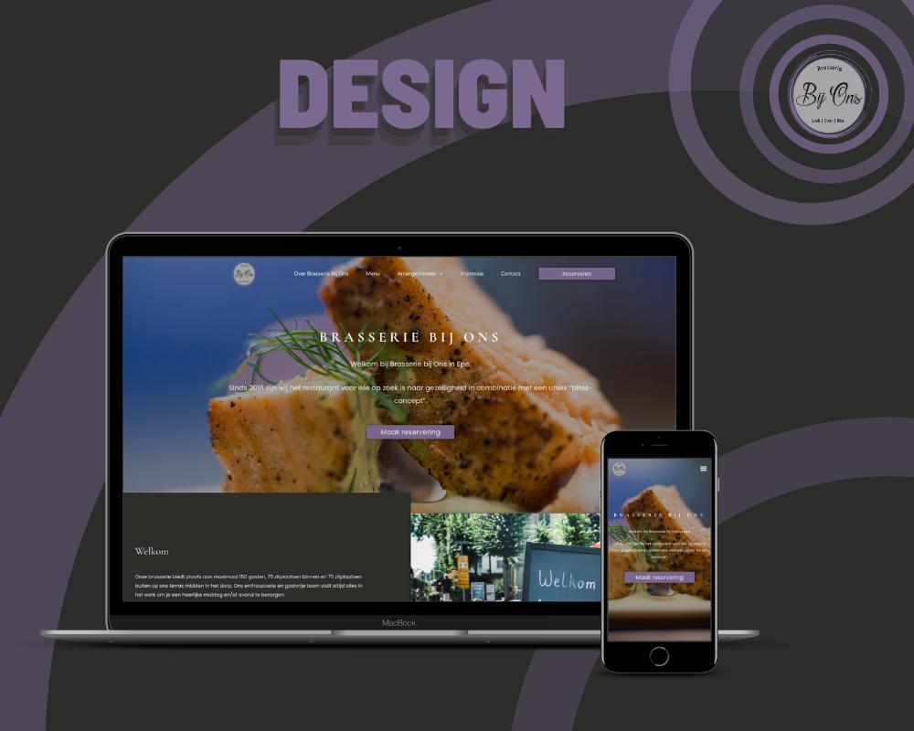Design kaart Brasserie Bij Ons