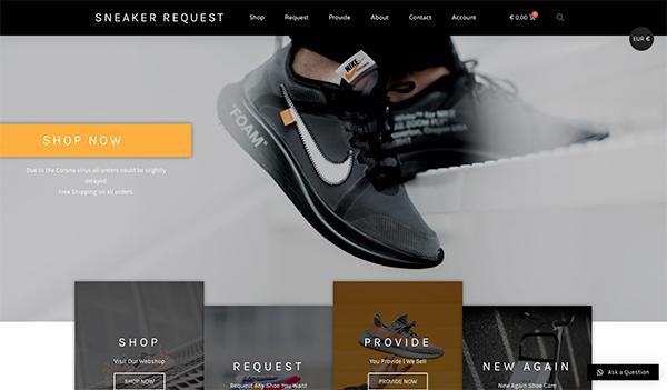 Sneaker Request Portfolio item door Hageman Webdesign