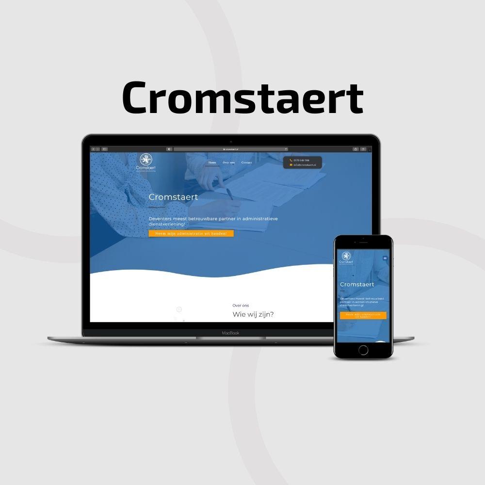 Cromstaert Website ontworpen door Hageman Webdesign