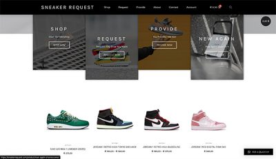 Sneaker Request By Hageman Webdesign